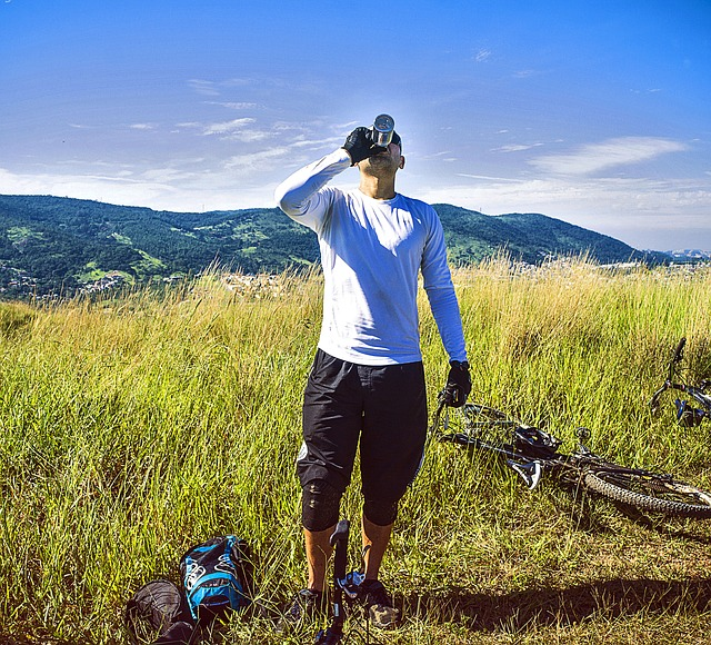 odpočinek cyklisty